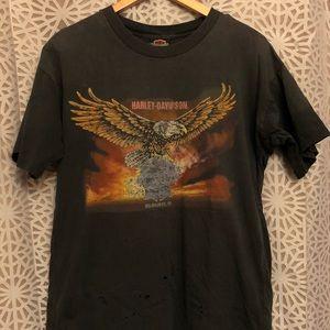 Vintage Harley Davidson Pabst Thrashed T shirt
